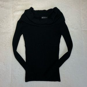 Inc Black Slouched Neck Long Sleeve